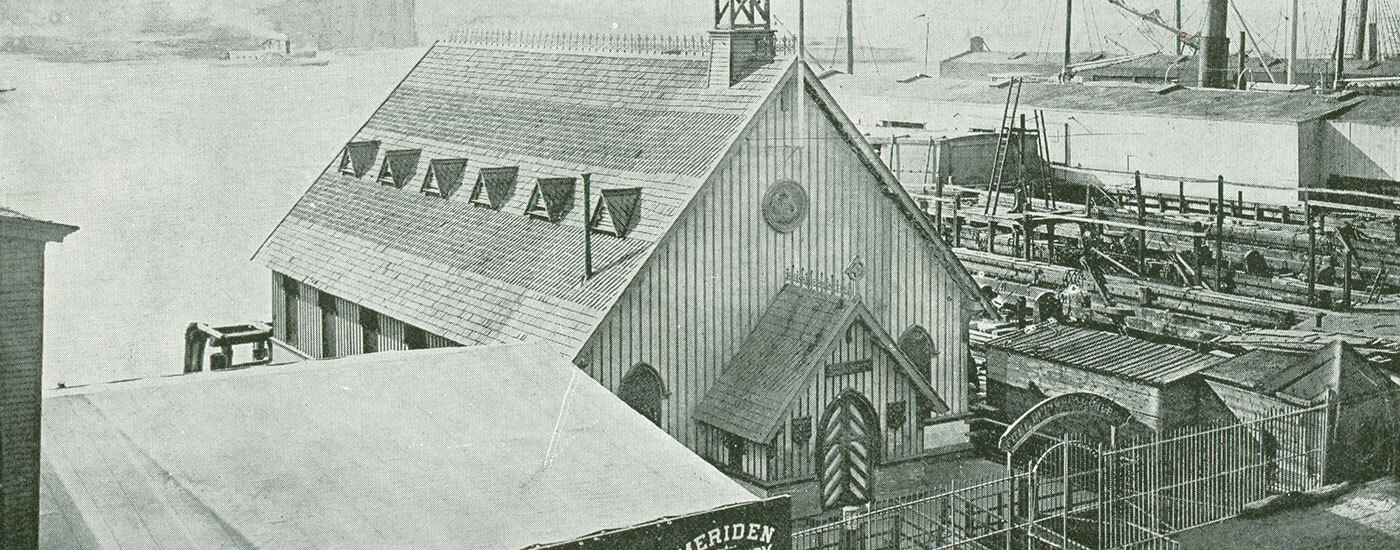 old looking photo of home